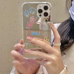 Vachie - 卡通镜面手机保护壳 - iPhone 12 Pro Max / 12 Pro / 12 / 12 mini / 11 Pro Max / 11 Pro / 11 / SE / XS Max / XS / XR / X / SE 2 / 8 / 8 Plus / 7 / 7 Plus