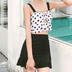 Roseate - Set: Dotted Tankini + Swim Skirt