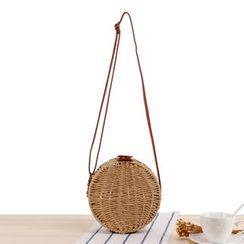 STYLE CICI - Circle Straw Crossbody Bag