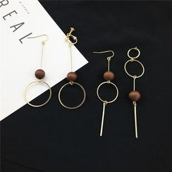 Kiksuya - Wooden Bead Drop Earring