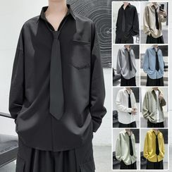 CooLook - Plain Long-Sleeve Shirt