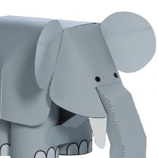 EZ Paper Things - Elephant DIY 3D Paper Model Toy