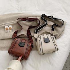 Aimyz - Embroidered Trim Crossbody Bag