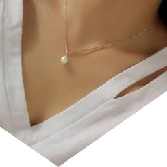 Dollu - Asymmetric Faux Pearl Necklace