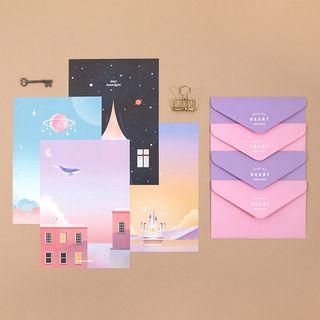 Full House - Plan d-Set: Galaxy Print Envelope + Letter