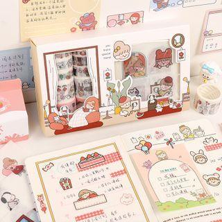 Hekki - Set: Cartoon Print Masking Tape + Sticker