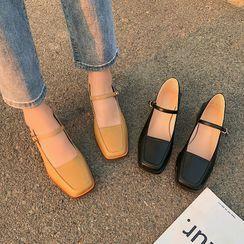CYOS - Square-Toe Chunky Heel Mary Jane Pumps