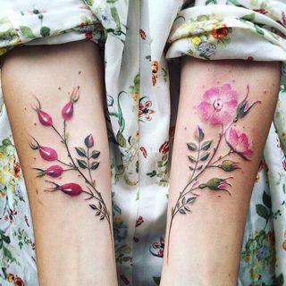 Tattoofield(タトゥフィールド) - Flower Waterproof Temporary Tattoo