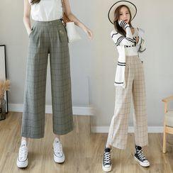 NERYNE - 格子宽腿西裤
