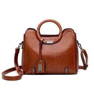 Mayanne - Hoop Handled Faux Leather Handbag