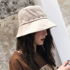 Amandier - Letter Embroidered Bucket Hat