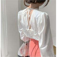 Juanita - 氣球袖露背襯衫