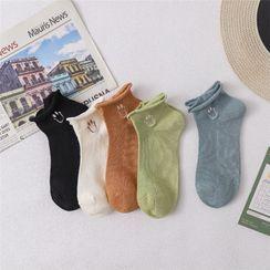 TAHLIA - Roll-Up Smiley Face Socks