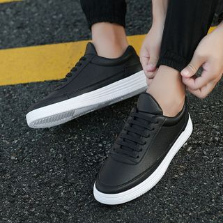 Lion Tips - Faux Leather Sneakers