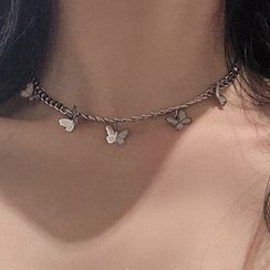 YUGGI - Butterfly Charm Chain Necklace