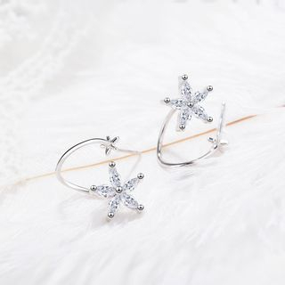 Knick Knack - Rhinestone Flower Earring
