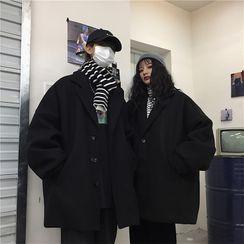 2DAWGS - 情侣装单排扣大衣