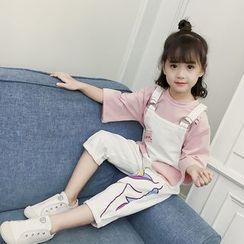 Qin Qin - 童裝七分袖T裇 / 背帶褲 / 套裝