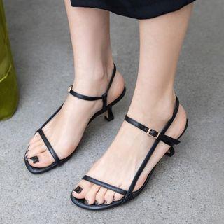 Freesia - 仿皮幼跟涼鞋