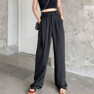 Hevnir - Wide-Leg Dress Pants