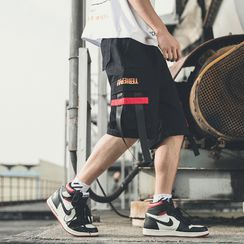 Fizze - Lettering Strappy Cargo Shorts