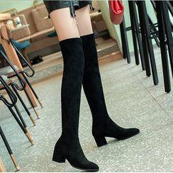 FiE FiE - Chunky-Heel Over-The Knee Boots