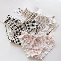 CUSCUS - Plaid  Panties