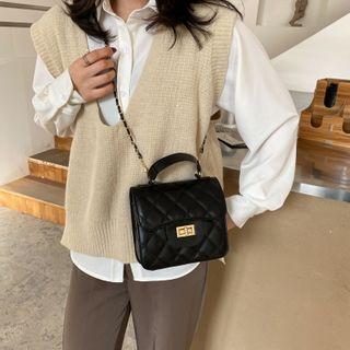 Faneur(ファナー) - Quilted Flap Crossbody Bag
