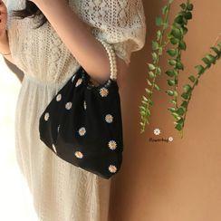 monroll - Floral Beaded Handbag