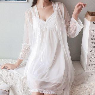 Almilo - Spaghetti Strap A-Line Pajama Dress