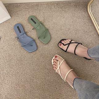 时尚麦乐 - 方形鞋头多带凉鞋