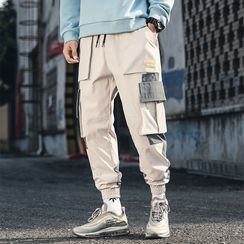 DuckleBeam - Color-Block Cropped Cargo Pants