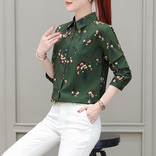 In the Mood - Floral Chiffon Shirt