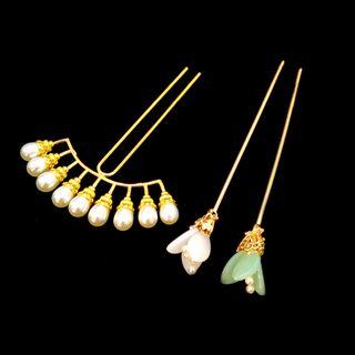 Fenix - 仿珍珠及碎花发簪