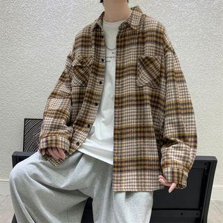 ATUNN - 長袖格子襯衫