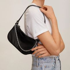 Kokora - Flap Crossbody Hobo Bag with Chain Strap