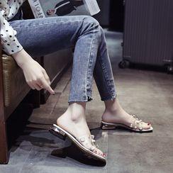 Zimu - 粗跟透明带凉鞋