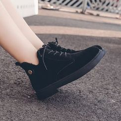 Poski - Faux Suede Ankle Boots