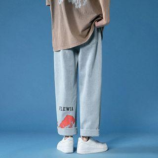 Furtheron - 印花直筒牛仔裤