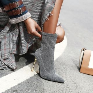 Martha - High-Heel Pointed Short Boots