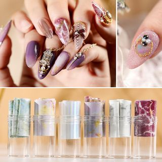 WGOMM - Marble Nail Art Stickers