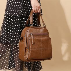 AIDO - Genuine Leather Multi-way Backpack