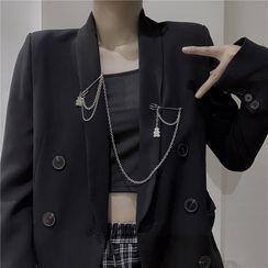 Porstina - 熊/饰针吊坠链条胸针