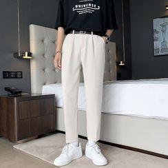 VEAZ - Plain Slim-Fit Dress Pants