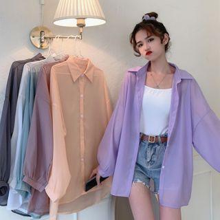 Sisyphi - Long-Sleeve Sheer Shirt