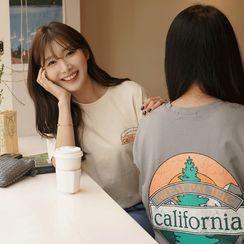 CLICK - 'California' Slit-Side T-Shirt