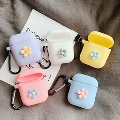 Jaguara - Silicone Pastel FLower AirPods Earphone Case Cover