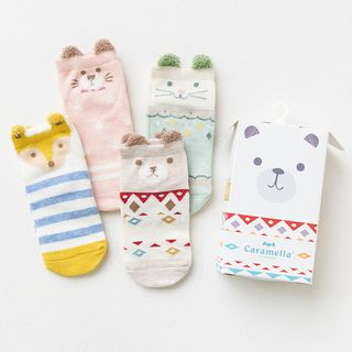 Knit a Bit - Kids Cartoon Short Socks
