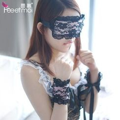 Femmu - Lingerie Lace Eye Mask / Lace Bracelet
