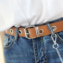 Leatha - Faux-Leather Chain Belt